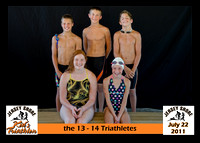 13 14  triathletes 5x7